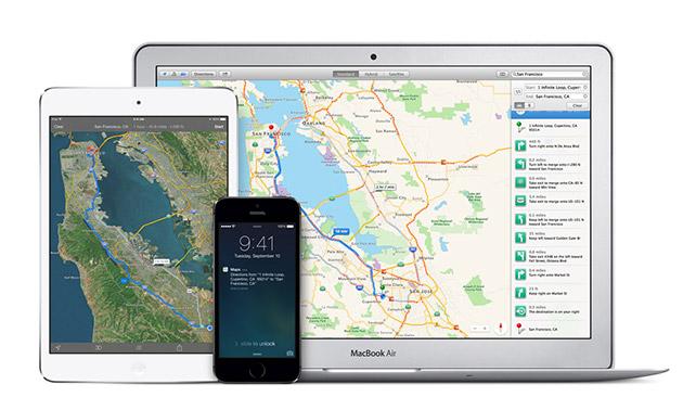 Apple blen aplikacionin social të hartave Spotsetter