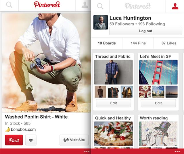 Pinterest vjen edhe për Windows Phone 8