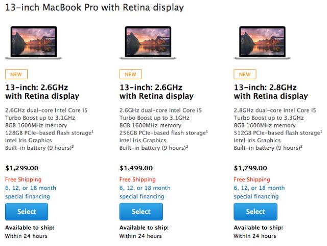 Linja e laptopëve MacBook Pro përditësohet me proçesorë më të shpejtë