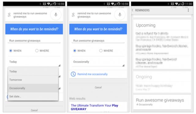 Google Now merr një opsion të ri për rikujtim të eventeve dhe ngjarjeve të ndryshme