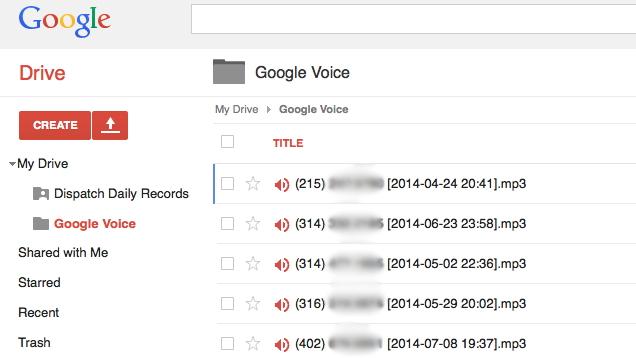 Ruani Voicemail-in në Google Drive me një skript