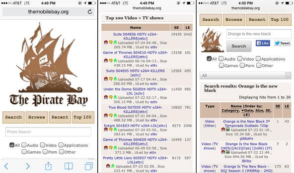 Uebfaqja Pirate Bay përgatit versionin mobil të saj