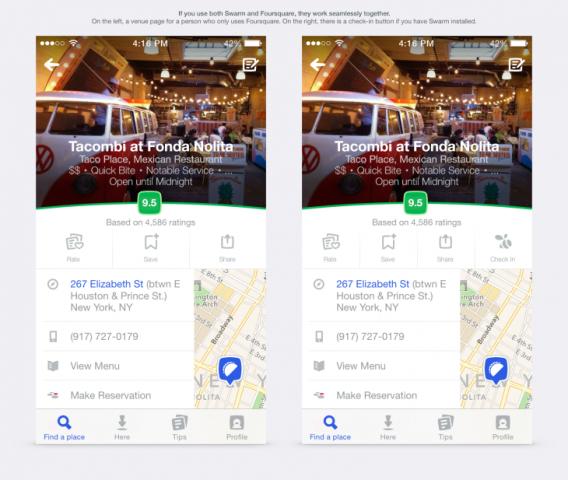 Foursquare po sjell një brend dhe dizajn të ri të aplikacioneve mobile