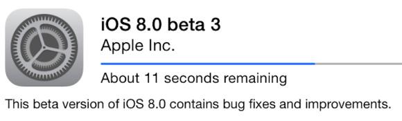 Përditësimi Apple iOS 8 Beta 3 tashmë i disponueshëm
