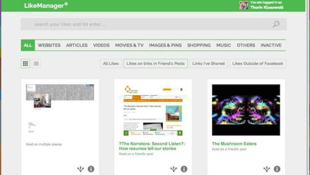 LikeManager përgatit dhe organizon pëlqimet e juaja në Facebook