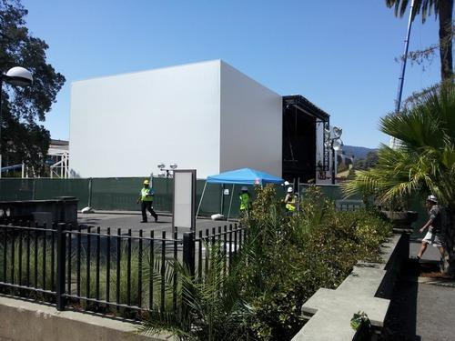 Apple po ndërton një strukturë misterioze për eventin që do të mbajë më 9 shtator