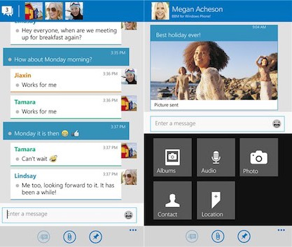 Vjen versioni zyrtar i Blackberry Messenger për Windows Phone