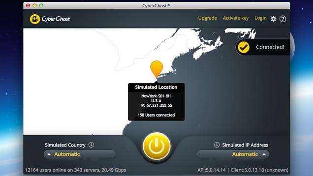 Shfletoni uebin në siguri dhe në formë anonime në Mac me CyberGhost VPN