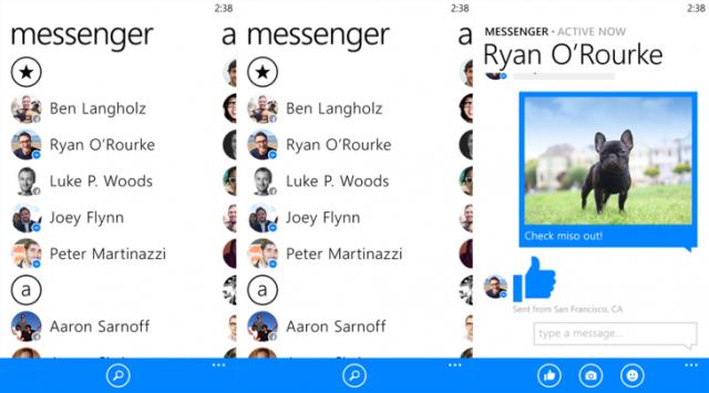 Facebook përditëson aplikacionin Messenger për Windows Phone