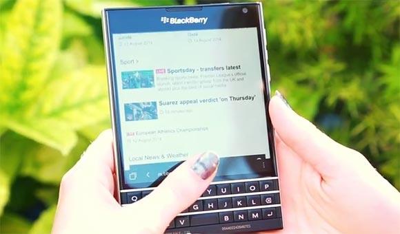 Blackberry Passport demostrohet në një tjetër video