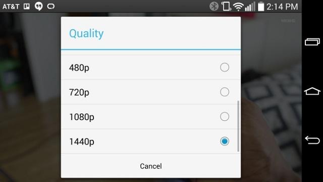 Aplikacioni YouTube për Android mbështet rezolucionin 1440 piksel