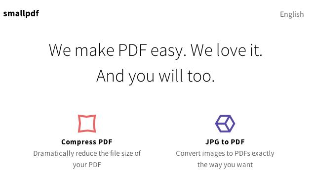 Dërgoni PDF me madhësi të zvogëluar me SmallPDF