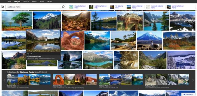 Microsoft përmirëson kërkimin e fotografive në Bing