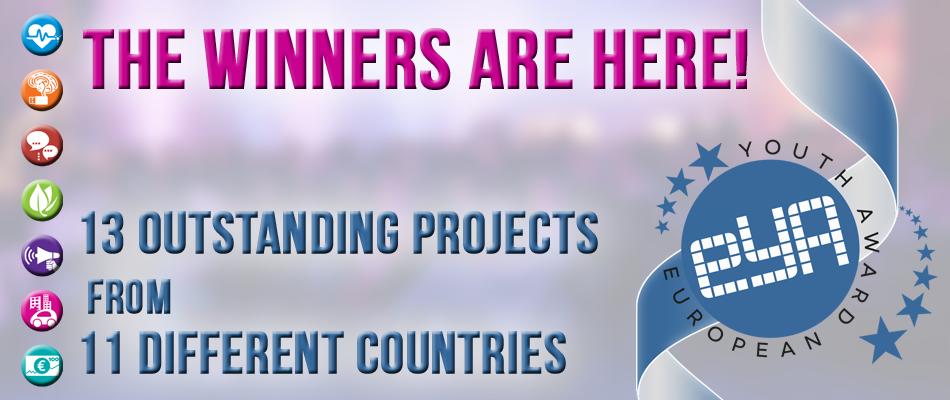 European Youth Award 2014: Ja 13 projektet fituese nga 11 shtete