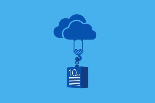 OneDrive tani mbështet skedarët e madhësisë 10GB