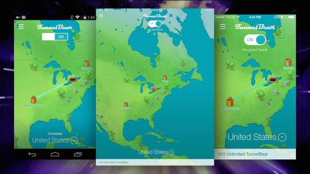 TunnelBear Mobile ju ndihmon në ruajtjen e privatësisë dhe sigurisë suaj në pajisjet mobile