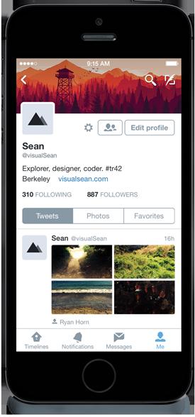 Twitter për iPhone vjen me një profil të ri-dizajnuar me veçori të zgjeruara për iOS 8