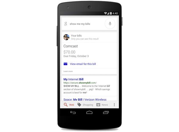Aplikacioni i kërkimit në Google ju kujton të paguani faturat tuaja
