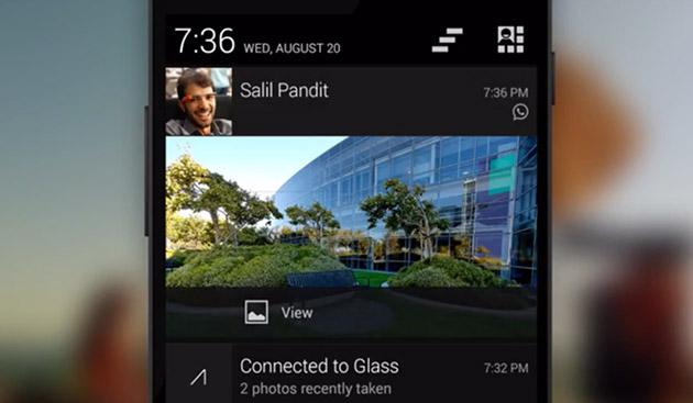 Google Glass do të jetë në gjendje të paraqesë njoftimet e telefonit tuaj