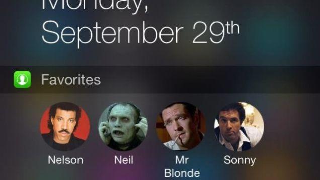 Favorites Widget shton kontaktet favorite në ekranin Today të iOS 8