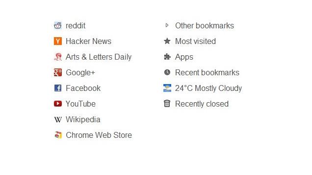 Humble New Tab ofron një faqe të thjeshtë, minimale në Chrome