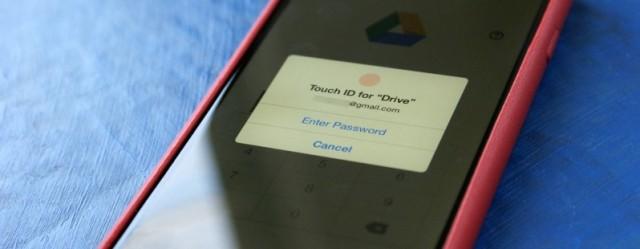 Google Drive për iOS tashmë mbështet Touch ID