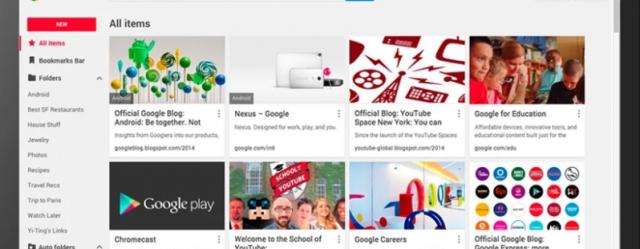 Google lëshon shtojcën e re për menaxhim të bookmarkëve
