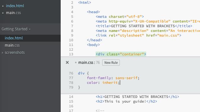 Adobe lëshon editorin pa pagesë dhe të hapur të tekstit Brackets për zhvilluesit e uebit