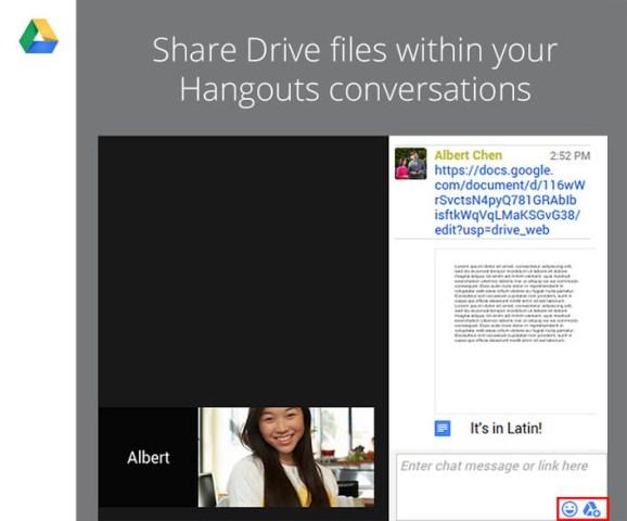 Tani mund të shpërndani skedarët e GoogleDrive drejtpërdrejt nga video thirrjet në Hangouts