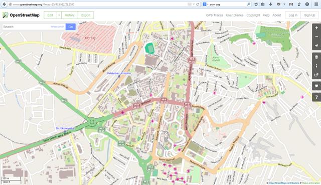 open street map - pamje
