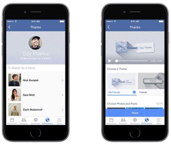 Facebook lëshon mjetin për krijimin e videove në prag të Ditës të Falënderimeve