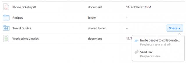 Dropbox përmirëson ndarjen e të dhënave dhe direktorive nga ndërfaqja në ueb