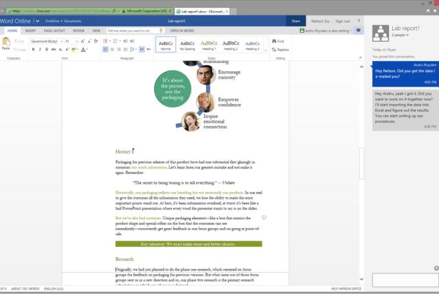 Microsoft sjell chat-in në aplikacionet e uebit Word dhe PowerPoint