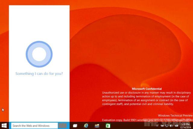 Ndërtimi i radhës i Windows 10 përmban asistentin dixhital Cortana dhe aplikacionin Xbox