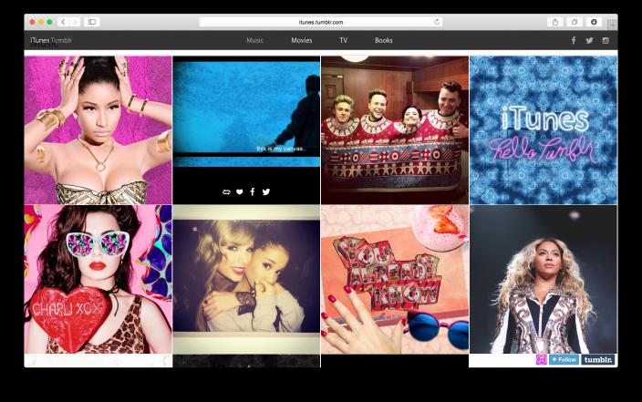 """Prezenca """"sociale"""" e Apple zgjerohet me blogun për iTunes në Tumblr"""