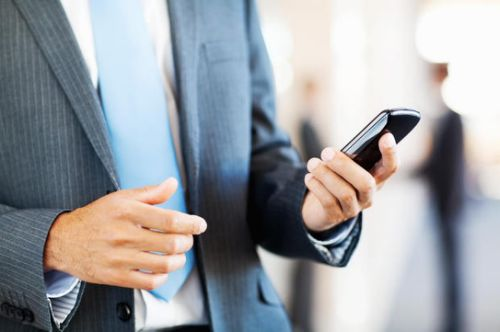 Businessman Using Smart Phone
