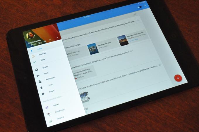 Google publikoi një version për iPad të aplikacionit të postës elektronike Inbox