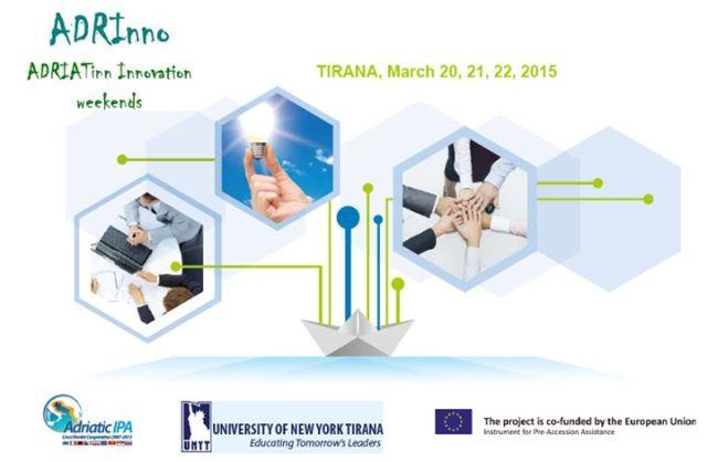 ADRIATinn Innovation Weekends në Tiranë për të promovuar sipërmarrjen në datat 20,21 dhe 22 Mars