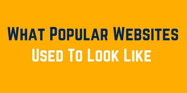 Uebsitet e famshme: Si ishin dhe si janë? (Infografik)