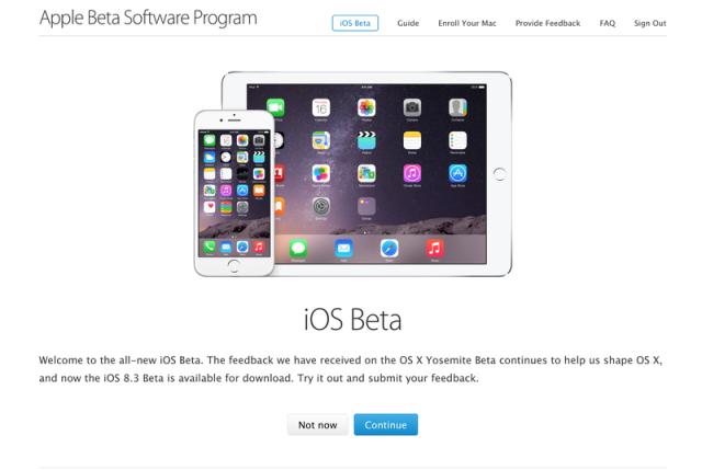 Apple fton të gjithë për testimin publik të versionin beta të iOS 8.3