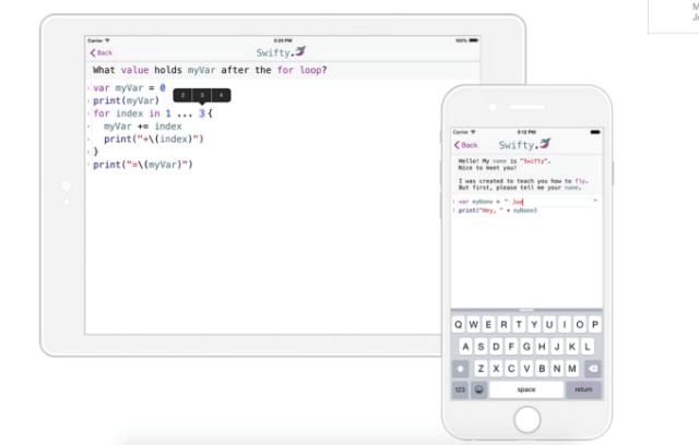 Njihuni me Swift, aplikacionin e Apple ku mund të mësoni se si të programoni në gjuhën Swift