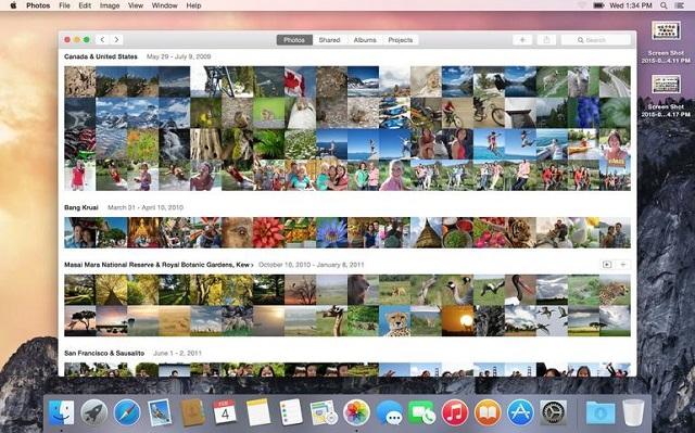 OS X 10.10.3 sjell një aplikacion të ri të fotove në desktop
