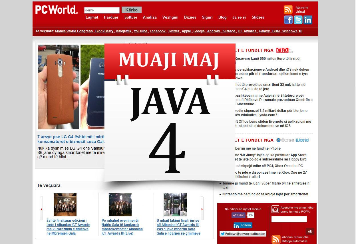 Muaji Maj Java 4 në PCWorld: e-Albania me 150 shërbime ndërsa Microsoft Edge sfidon Chrome dhe Firefox