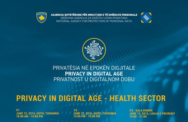 """Fushata Privatësia në Epokën Dixhitale sjell konferencën me temë """"Përpunimi i të Dhënave të Ndjeshme në Sektorin Shëndetësor"""""""