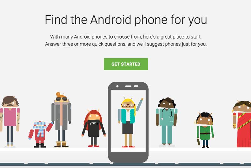Google dëshiron tju ndihmojë të zgjidhni smartfonin e duhur