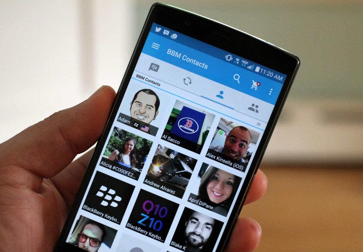 BlackBerry Messenger sjell pamjen Material Design në aplikacionin Android