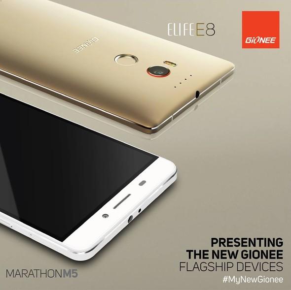 Gionee prezantoi smartfonët Elife E8 dhe Marathon M5