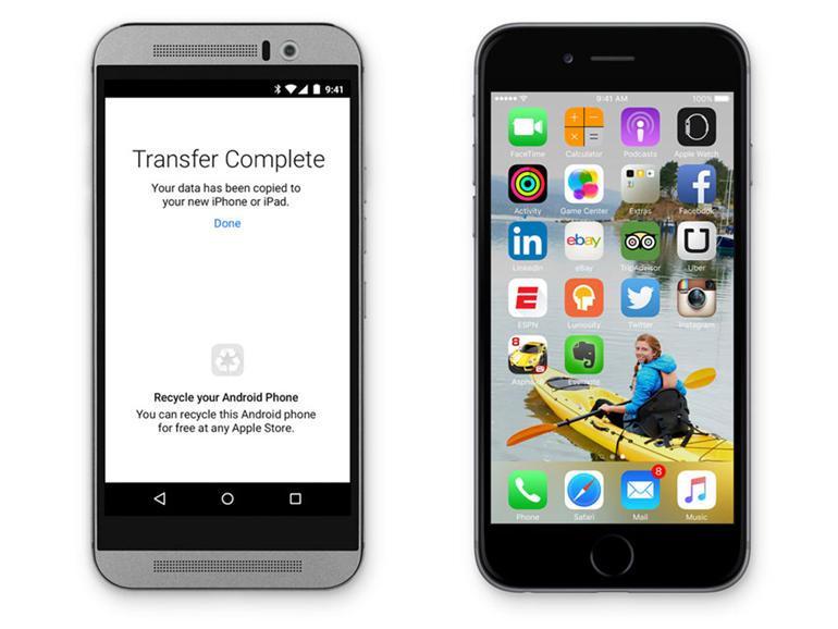 Apple solli një aplikacion që bën më të lehtë kalimin e përdoruesve nga Android në iOS