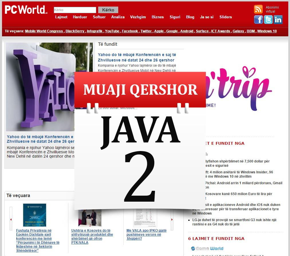 Muaji Qershor Java e 2-të në PCWorld: VALA vs IPKO, Privatësia në Epokën Dixhitale dhe prezantimi i iOS 9 dhe OS X El Capitan