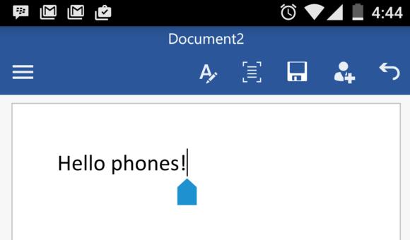 Mbërrijnë në Android versionet zyrtare të Word, Excel dhe Power Point